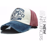 Topi Baseball Snapback Nypd Warna Usang Vintage Retro Ny Jeans Sobek -