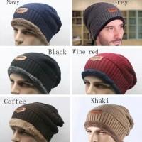 Kupluk Rajut Beanie / Topi Pria Import Murah / Topi Winter Lembut -