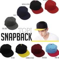 Topi Snapback Hiphop Polos (Depan Tanpa Belahan)