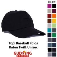 Topi Basic Twill Pria Polos Top 02 - Warna A