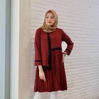 Baju Atasan Wanita / Larisa Tunik / Tunik Plisket Muslim Terbaru Best