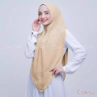 Jilbab Khimar Syari Ceruti Premium Rempel Amalia Ceruty Murah Terbaru