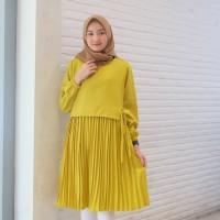 Baju Atasan Muslim Wanita / Ines Tunik Muslim Plisket Terbaru Kekinian