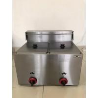 GAS Double Deep Fryer/ Mesin Goreng/ Penggoreng 2 Tungku GARANSI 1 THN