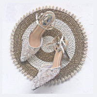 Intricate Ivory Beaded Wedding shoes 8cm