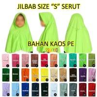Hijab Jilbab Anak Size Ukuran S Usia Umur 7 8 9 10 11 12 13 14 Tahun