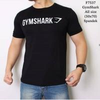 Kaos Keren/kaos Distro/kaos sport gym shark hitam