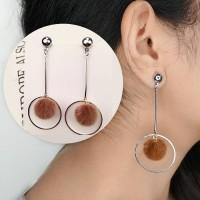 Ball Geometric Long Tassel Earrings 032F9Br