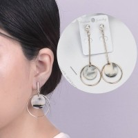 Round Marble Pattern With Copper Earrings 0328D6r
