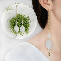 Chain Leaf Earrings 032E71r