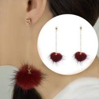 Small Style Wind Earrings Fringe Wild Earrings Fur 0335DCr