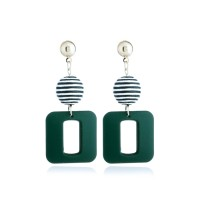 Multi-Layer Earrings Geometric Square Ball Winding 031FCFr