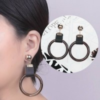 Geometric Marble Pattern Earrings 0328D8r