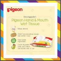 Pigeon Wipes Hand Mouth 20 S 60S Tissu Basah Untuk tangan Dan Mulut Ba