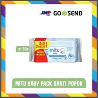 MITU Beli 1 Gratis 1 Tisu Basah Bayi 50s - Baby Wipes Biru