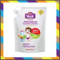 SLEEK BABY BOTTLE NIPPLE CLEANSER POUCH 450ML Sabun Cuci Botol Bayi