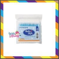 Baby Safe Cotton Buds 100 pc Refill Pack - Korek Kuping Kapas Regular