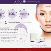 LA'SOUL Skin Secret Lifting Gel Masker Wajah 15pcs