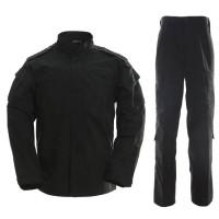 Seragam Combat Suit BDU Set Airsoft Tactical Full Black Hitam Outdoor