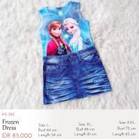 Dress Anak - Spandex Frozen Dress