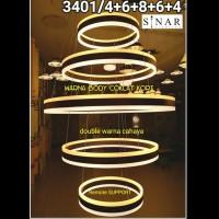 Lampu gantung Ring LED remote 3401/5 zap