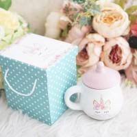 Mug Dot Custom/mug genthong custom/mug tutup/souvenir ultah/hampers