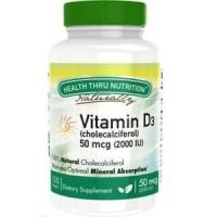 Health Thru Nutrition Vitamin D3 2000IU 50mcg isi 100