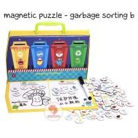 Zoetoys Magnetic Puzzle - Garbage Sorting B |mainan edukasi Suitcase