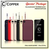 Vivo Z1 Pro - Paket Bundling Tempered Glass Glossy Dan Softcase