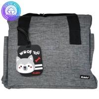 Tas Selempang Perlengkapan Bayi / Sling Diaper Bag + Bag Tag Gray