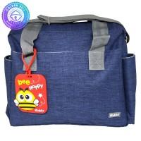Tas Selempang Perlengkapan Bayi / Sling Diaper Bag + Bag Tag Navy