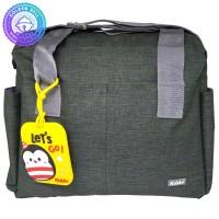 Tas Selempang Perlengkapan Bayi / Sling Diaper Bag + Bag Tag Army