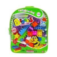 Tas Lego BLOCK TAS - MAINAN EDUKASI EDUKATIF Tas Ransel Brick