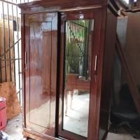 Jual Lemari Pakaian 2 Pintu Sliding Kayu Jati Jakarta Timur Bm Furniture Tokopedia