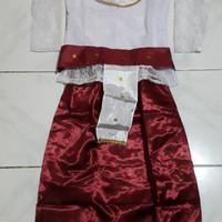 baju adat Lampung anak & asesoris kepala lampung
