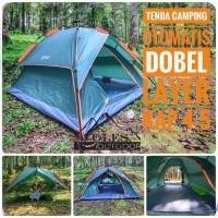 Tenda Camping Otomatis Red Camp Kap 4 orang Double Layer