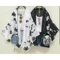 Cardy kimono koreansilk [Outwear 0106] QI8 - Hitam