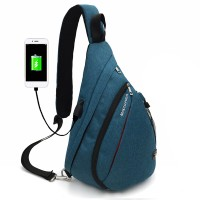 Silmi Men Women Canvas USB Charging Port Outdoor Travel Sport