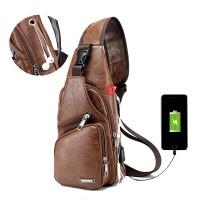 Silmi Men Outdoor Shoulder Resistant Anti Theft Chest Bag Travel