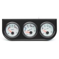 Silmi 52mm Black Bezel Voltmeter Water Thermometer Oil Pressure