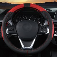 Silmi Breathable 38cm PU Leather Non-slip Car Steering Wheel
