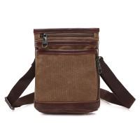 Silmi Men Canvas Casual Black Khaki Coffee Shoulder Crossbody Bag