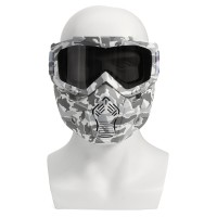 Silmi Motorcycle Helmet-in Goggles Clear Dark Grey Lens