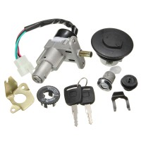 Silmi Motorcycle Ignition Lock Switch Fuel Tank Cap +2 Key For 49