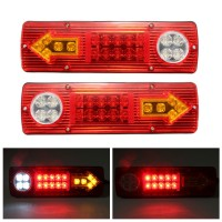 Silmi 2x 12V LED Trailer Truck Rear Tail Brake Stop Turn Light