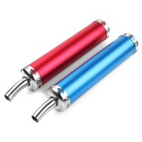 Silmi 280MM Motorcycle Racing Blue Red Exhaust Muffler Pipe