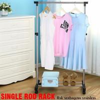 gantungan gawang baju serbaguna stand hanger single rod rack BL12