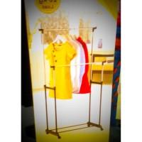 Gantungan Rak Gantung Baju Pakaian Hanger Stand Double Portable BL8