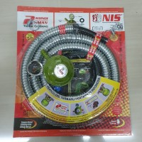 Selang Regulator Gas LPG NIS Double Lock AB + Ampere