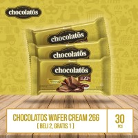 Chocolatos Wafer Cream Original - 26g (Beli 2 Gratis 1)